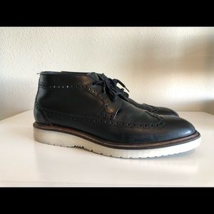 Cole Haan Leather Martin Long Wingtip Boot C11650